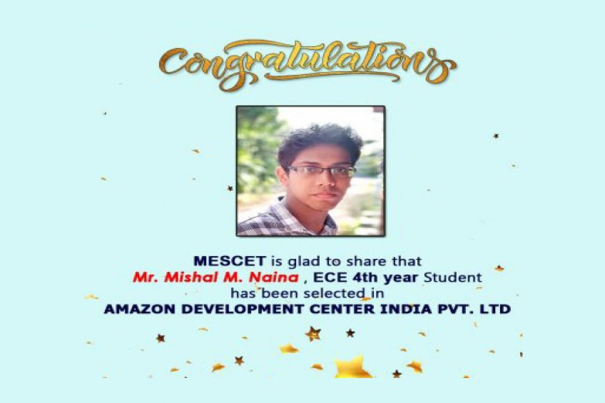 Placed at Amazon Development Center