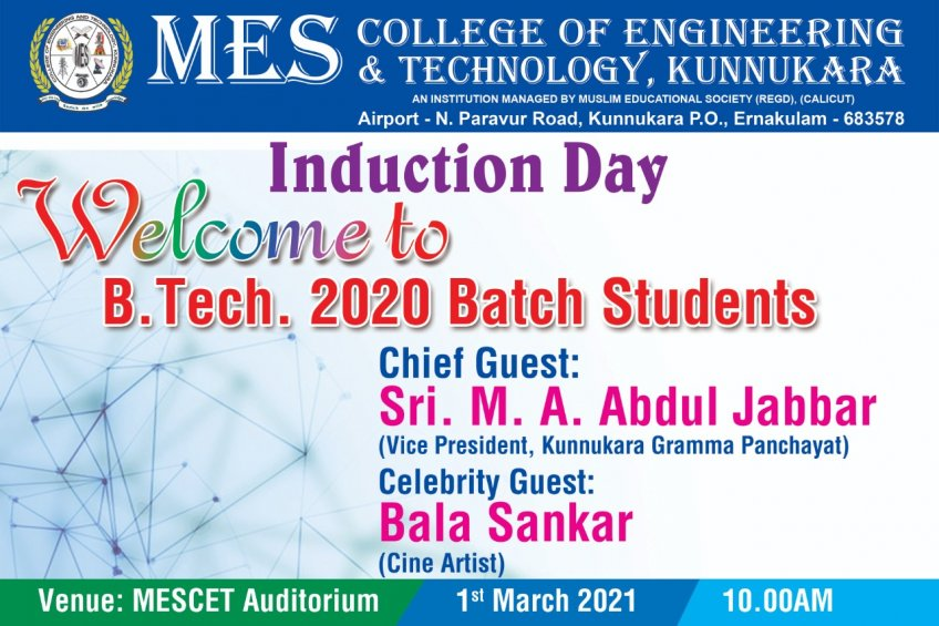 INDUCTION DAY - WELCOME 2020 BATCH STUDENTS
